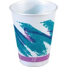 foam cups trophy jazz hot cold foam cups 12 oz 100 pack staples