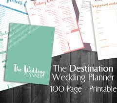 best wedding planner organizer destination wedding planner printable 8 5x11