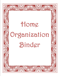 Binder Cover Sheet by How Sweet It Is Free Home Organization Binder
