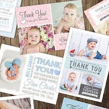 personalized thank you cards personalised new baby thank you cards announcement inc envelopes
