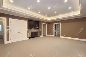 basement in new construction home with bar stock photo picture