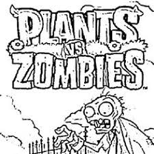 free printable plants vs zombies coloring page fun coloring