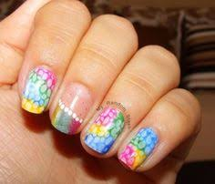 iwhlvr nail art easter manicure glitter fade with crosses and