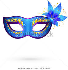 carnaval masks vector blue venetian carnival mask with flower masques