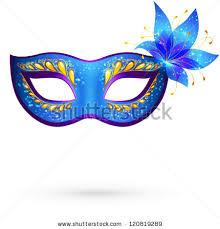 carnival masks vector blue venetian carnival mask with flower masques