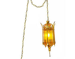 hollywood regency swag l vintage swag lantern etsy