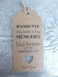 wedding gift kits best 25 hangover kit wedding ideas on hangover kits