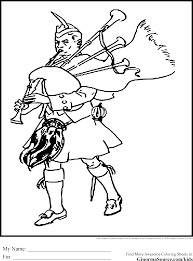 bagpipes and kilt coloring pages coloring pages pinterest