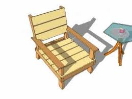 Free Wooden Outdoor Chair Plans outdoor chair plans youtube