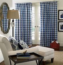 Blue Buffalo Check Curtains Buffalo Plaid Drapes 5 Buffalo Check Curtains Defilenidees