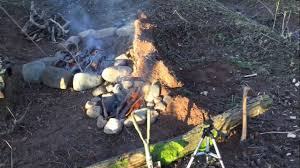 concrete fire pit exploding exploding pit oven stone epic fail youtube