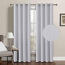 Solid Color Curtains Amazon Com H Versailtex Grommet Solid Color Blackout White