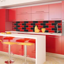 red and black kitchens home design ideas