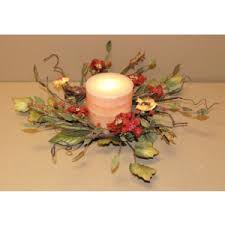 flower candle rings 4 5 in candle rings by size everyday florals florals