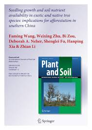 218 best native plants images on p seedling growth and soil nutrient availability in exotic and