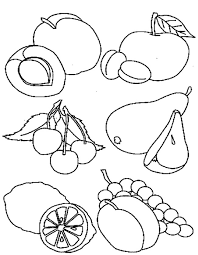 bunch ideas of healthy food coloring pages preschool on summary