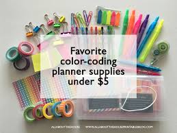 favorite color coding planner supplies under 5