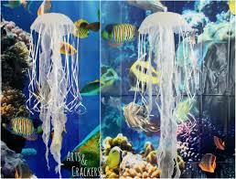 diy hanging jellyfish decoration ocean themed party decor