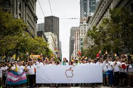 tim cook led 5 000 from apple at pride parade fortune