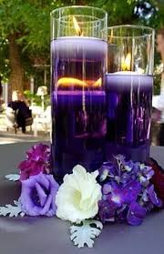 floating candles colored purple food water and purple
