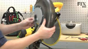 dewalt miter saw repair u2013 how to replace the blade guard assembly