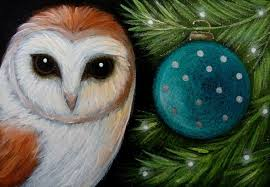 barn owl visit tree ornament by cyra r cancel from