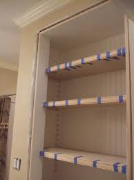 bathroom closet shelving home design