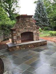 patio fireplace u0026 fire pits in frederick md poole u0027s stone u0026 garden