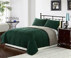 bedding dark chocolate white and green quilted california king