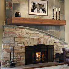 Pearl Mantels Peachy Reclaimed Wood Mantel Shelf Brick Fireplace Fireplace