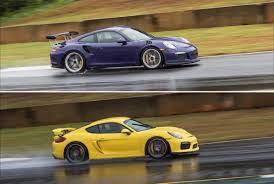 porsche cayman gt3 rs on the web gt3 rs and cayman gt4 track tests at road atlanta