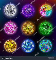 party equipment disco balls vector illustration discotheque stock vector