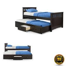 twin bed with trundle kids daybed storage drawers wood toddler