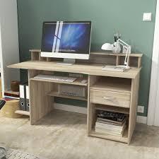 Computertisch Schreibtisch Computertisch Bürotisch Pc Tisch 151cm Eiche Sonoma