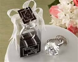 wholesale favors wholesale 50pcs lot ring diamond keychain wedding favors and gifts