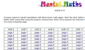mental maths e wot
