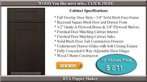 Pepper Shaker Cabinets Rta Kitchen Cabinets Maryland Kitchen Cabinets Discount