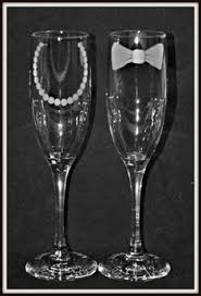 his and hers glassware wedding toasting flutes chagne flutes personalized chagne