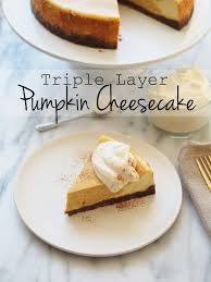 typical domestic layer pumpkin cheesecake
