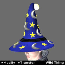 second life marketplace wildthing wizard hat moons stars