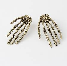 unique stud earrings unique cool human skeleton stud earrings wholesale