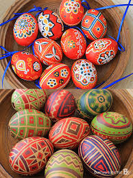 wax easter egg decorating painted easter eggs colorful crafts