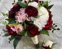 silk wedding bouquets silk bridal bouquet etsy