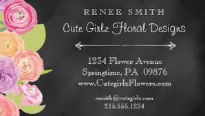 Landscape Business Cards Design Girly Florist And Landscaping Business Cards Girly Business Cards