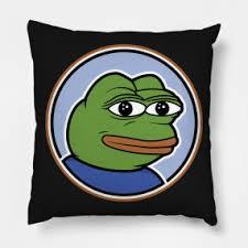 Sad Frog Meme - sad frog throw pillows teepublic