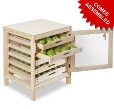 wooden apple storage rack traditional design 5 drawers fruit