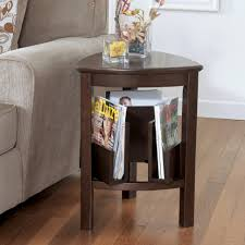 living room Triangle Brown Wood End Table Living Room With