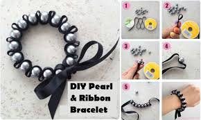 diy pearl bead bracelet images Diy pearl and ribbon bracelet diy ideas by you jpg