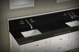 White Bathroom Vanity With Black Granite Top - 70