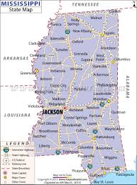 Georgia Map With Cities State Map Of Mississippia